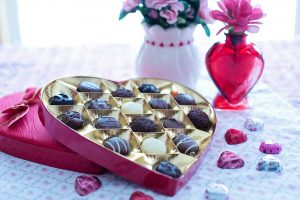 valentines chocolates at tyglyn